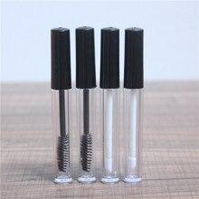 50 pièces/lot 3ml Tube brillant à lèvres clair vide Tube de cils noir Mascara crème flacon/conteneur outils de beauté Portable