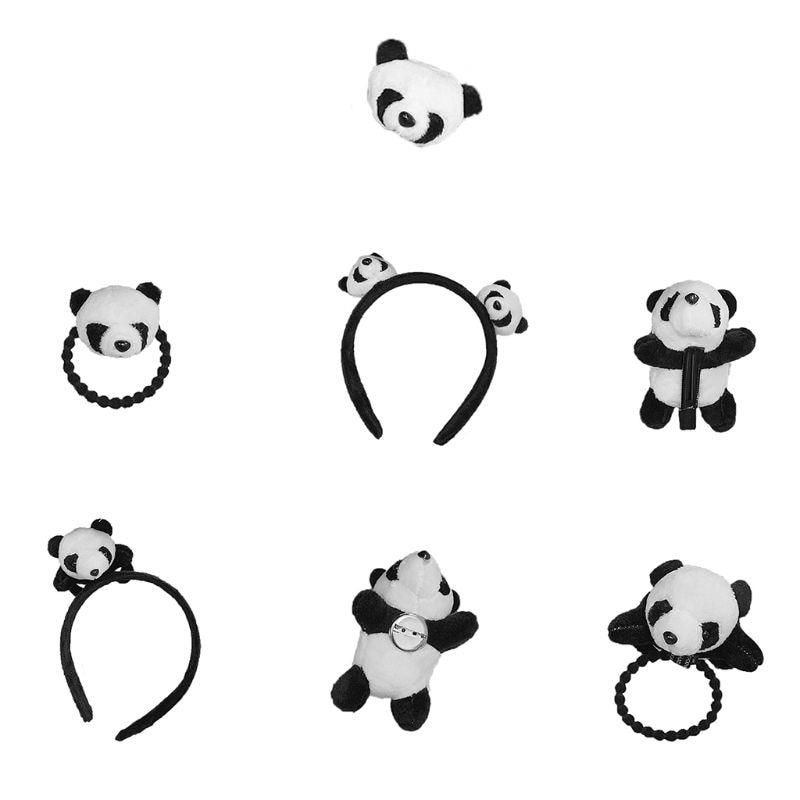 Headband Panda Headband Headwear Hair Clip Cute Pins Brooch Headdress Lovely Girls Stuffed Animal So