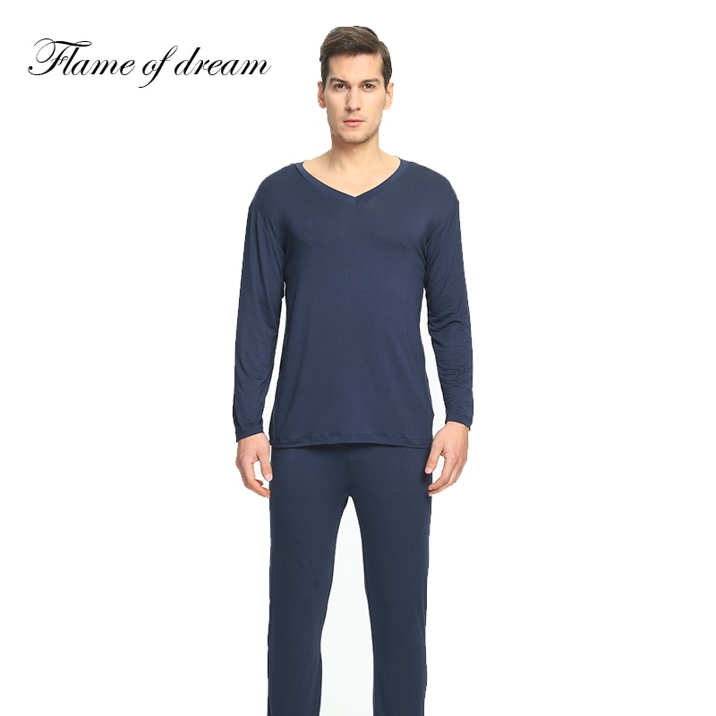 Пижама из модала, Мужская одежда для сна, мужская пижама, Мужская пижама, комплект мужской одежды 114
