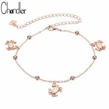 Chandler Crab Anklets Bracelet On The Leg For Women  Jewelry Adjustable Chain Bracelet For Friends Best Gift Maxi Bijoux