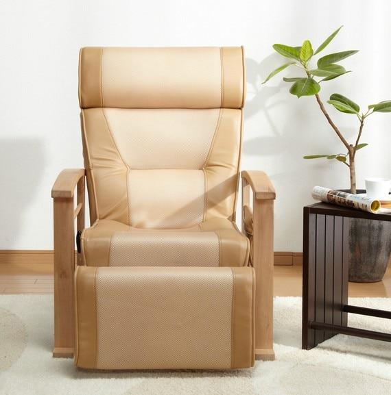 Reclinable de cuero ajustable en altura con taburete extraíble para sala de estar sofá reclinable moderno silla muebles de sillón para ancianos