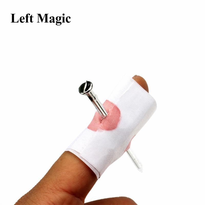1 шт кровавый для розыгрыша искусственный гвоздь через палец волшебный трюк страшный Хэллоуин вечерние апреля День Дурака уличная магия Fuuny...