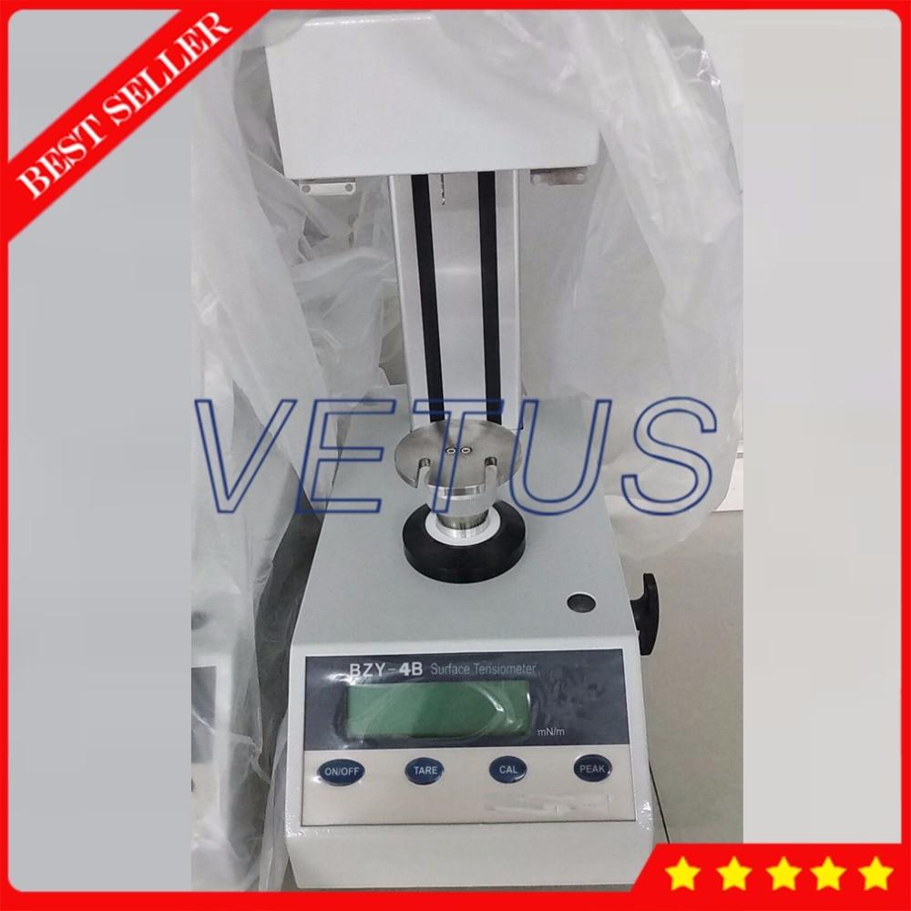BZY-3B Manual Lifting Interfacial Tensiometer Surface Tension Meter Test Machine with 0-400mN/m Plate Ring Method