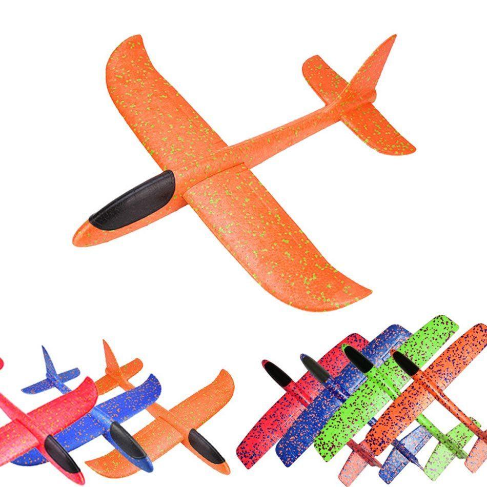 2018Hot 48CM planeador Can Airplane Outdoor Parental juguetes educativos para niños EPP lanzamiento A mano lanzar juguetes un regalo de cumpleaños