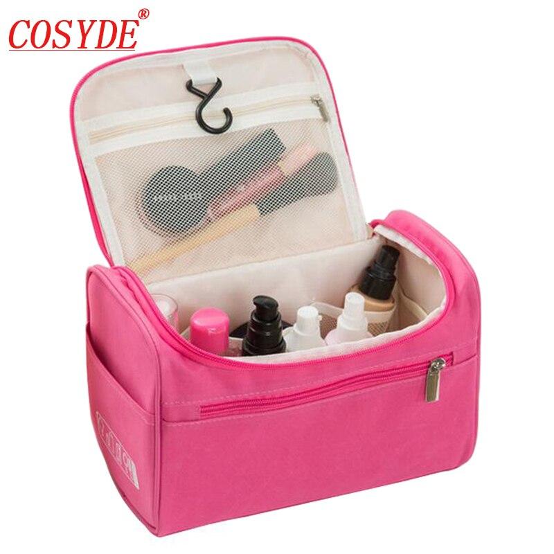 Bolso para cosmético de poliéster Cosyde, a la moda, resistente al agua, grande, para mujer y hombre, bolsa de maquillaje de nailon, bolsa de viaje para cosméticos, neceser colgante