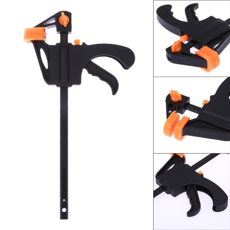 4 Inch Quick Klem Ratchet Release Snelheid Squeeze Hout Werken Werk Bar Klem Kit Spreader Gadget Tool DIY Hand houtbewerking