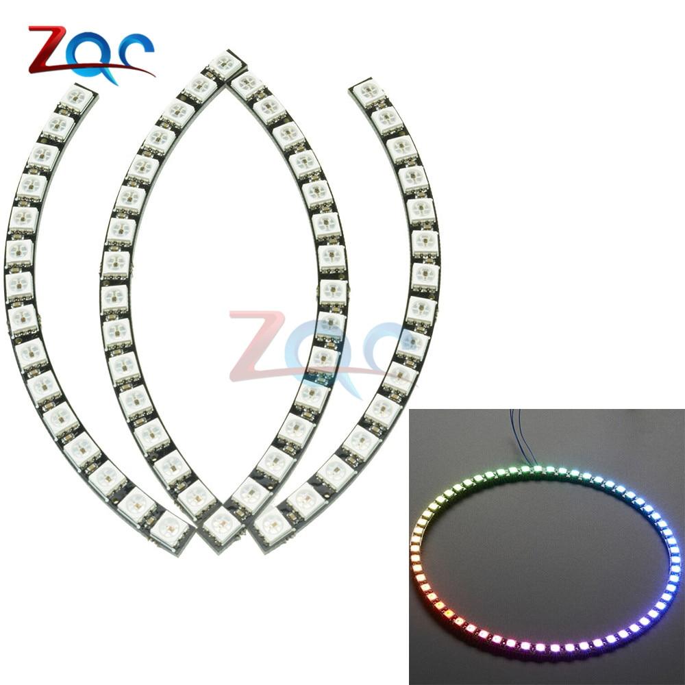 60 Бит Цифровой WS2812 RGB Светодиодное кольцо полноцветный подсветки WS2812 5050 SMD светодиодные ленты модуль микроконтроллер DC 5 В для Arduino