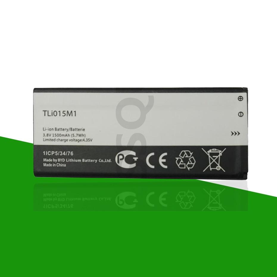 Original 1500mAh TLi015m1 batería para Alcatel One Touch Pixi 4 4034A PIXI 4 4034A 4034X 4034F 4034D teléfono Tli015m7 + código de seguimiento
