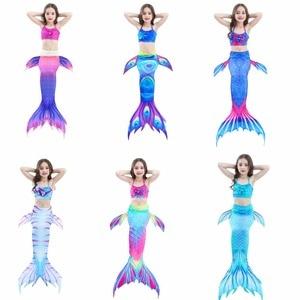 2-12Y Baby Girls Kid Mermaid Tail Costume Children Fancy Mermaid-Tail Swimsuit Cosplay Costume For Kid Kids Halloween Costumes
