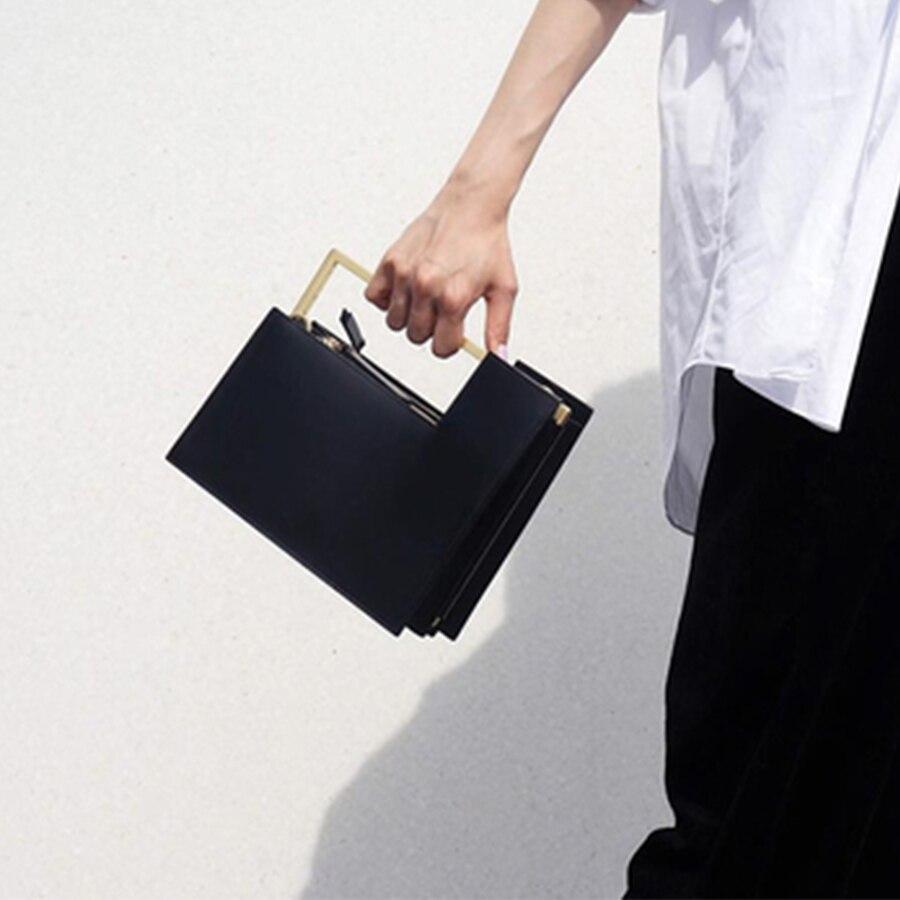 Luxurious Metal Handle Small Square Bag For Ladies High Quality Pu Leather Crossbody Bag Female Fashion Multi-interval Handbags