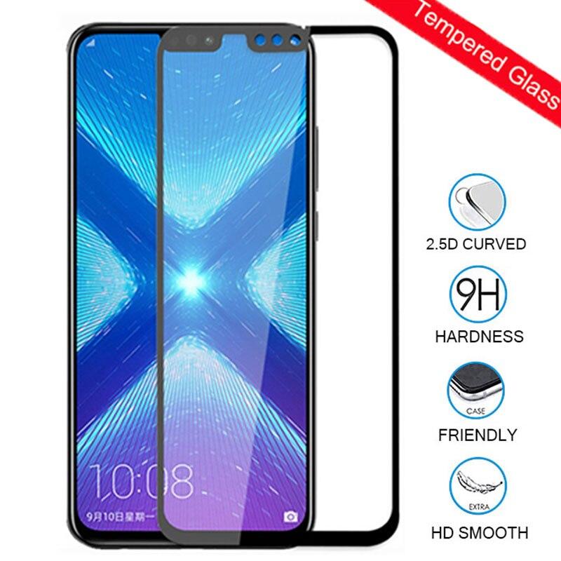 Vidrio Protector para Huawei honor 8x Protector de pantalla cubierta completa vidrio templado en honor 8x huawee wawei Hawaii honer 8x8 x