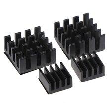 4pcs/set Black Aluminum Heatsink Cooler Cooling Kit For Raspberry Pi 2 / B+