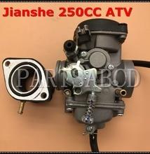 Carburador de 30mm TK JIANSHE LONCIN BASHAN 250cc ATV QUAD ATV250 JS250 carburador con colector de admisión