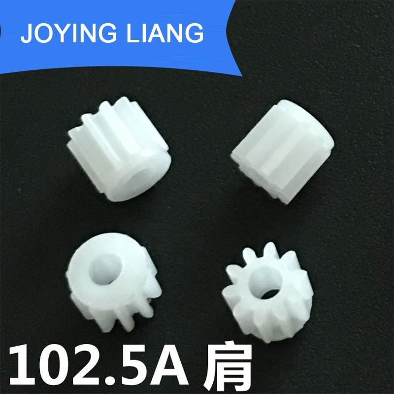 102.5A الكتف 0.5M التروس 10 الأسنان معامل 0.5 2.5 مللي متر ضيق البلاستيك والعتاد DIY لعبة الاكسسوارات 5000 قطعة/الوحدة