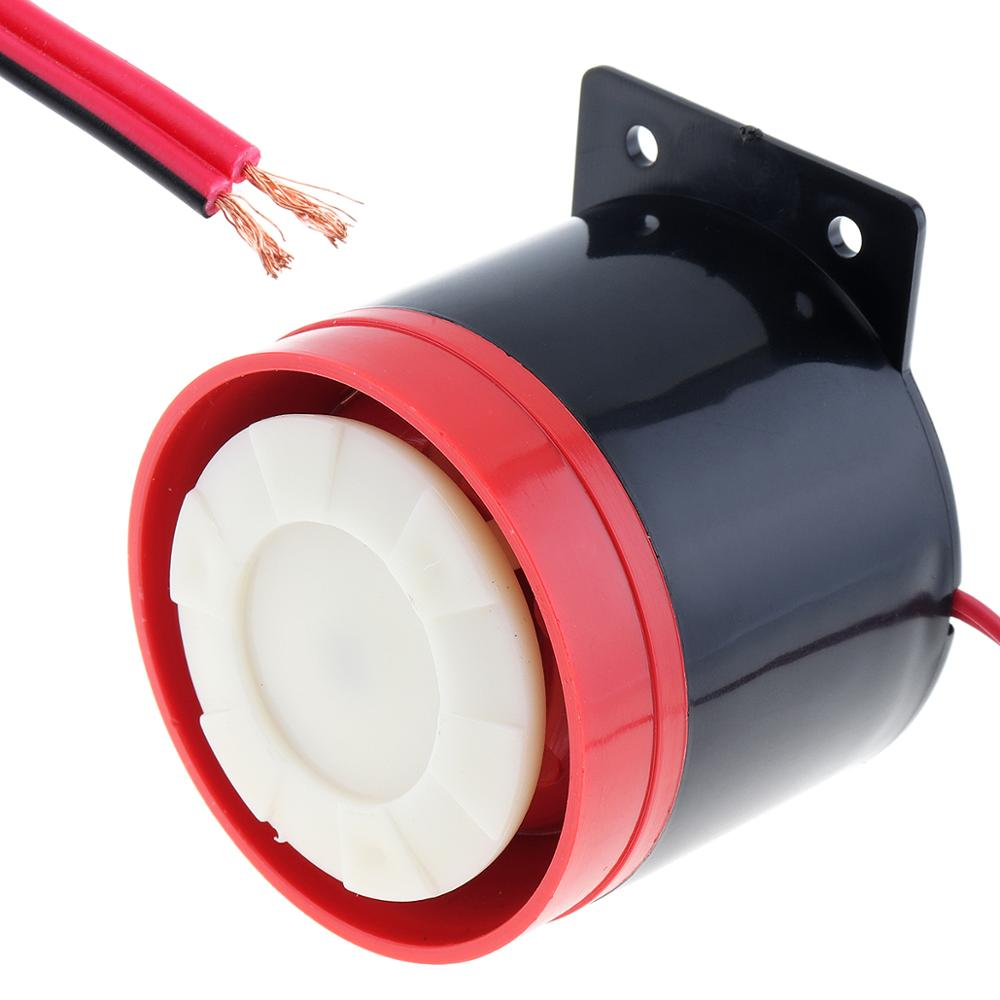 Altavoz bocina de marcha atrás de 12V, negro y rojo, 105dB, altavoz bocina de marcha atrás compatible con motocicleta, coche, vehículo, barco, SUV