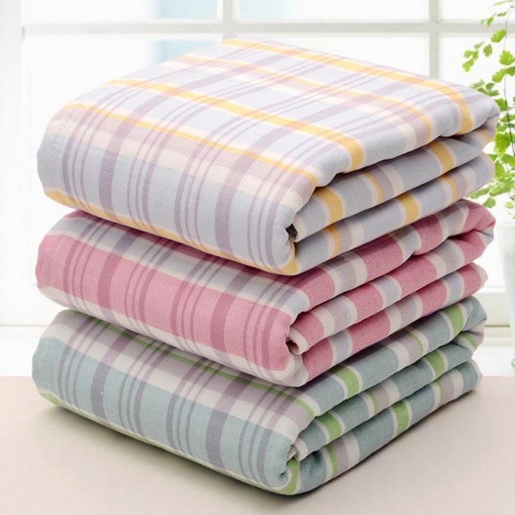 100% Cotton Plaid Super Soft Big Towels For Bath Beach Towel For Adults 70x140cm Quick Dry Bathroom Salon Spa Shower Towel Women