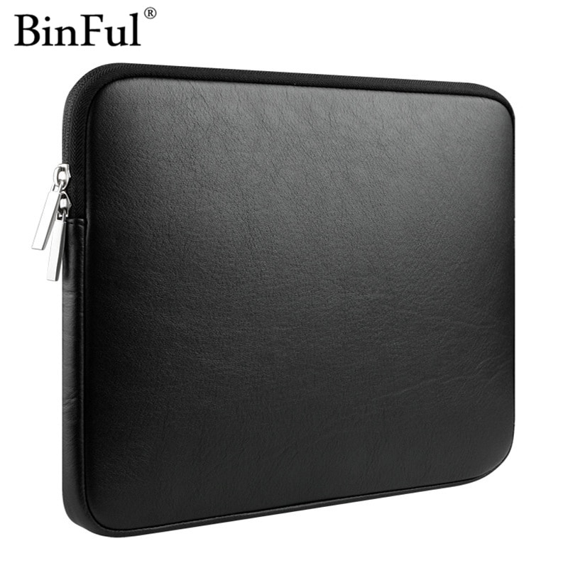 BinFul cuero de última novedad bolsa de cubierta impermeable para mac book Air 11,6 13,3 Pro Retina 12 13 15 bolsa de portátil para Mac book pro 13 pulgadas