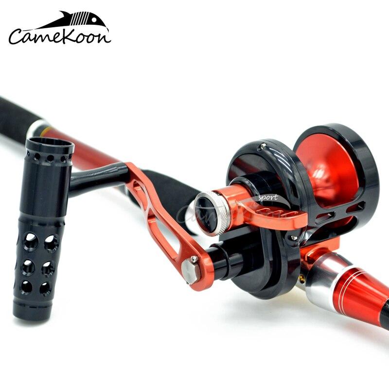 CAMEKOON Full Metal Saltwater Lever Drag Fishing Reel 9+2 Bearings 35KG Max Drag Big Game Trolling Reel Boat Fishing enlarge