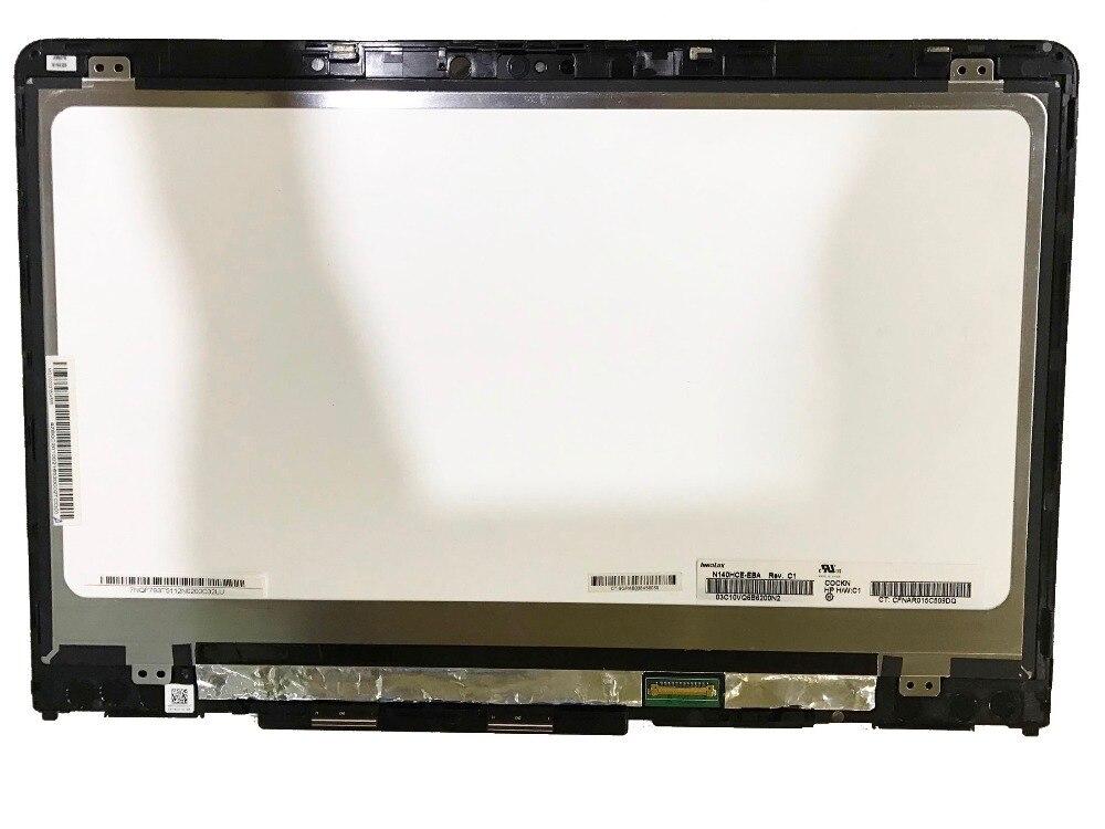 """Digitalizador de pantalla táctil LCD para HP Pavilion X360 14-ba004nx 14-ba004la 14-BA 14,0 """"FHD 1920x1080 reemplazo del Panel de montaje"""