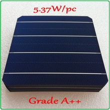 Mono zonnecel 21.6% hoge efficiëntie Een + + 5.37 W/st monokristallijne zonnecel + genoeg PV Lint 60 m tab draad en 5 m rail draad