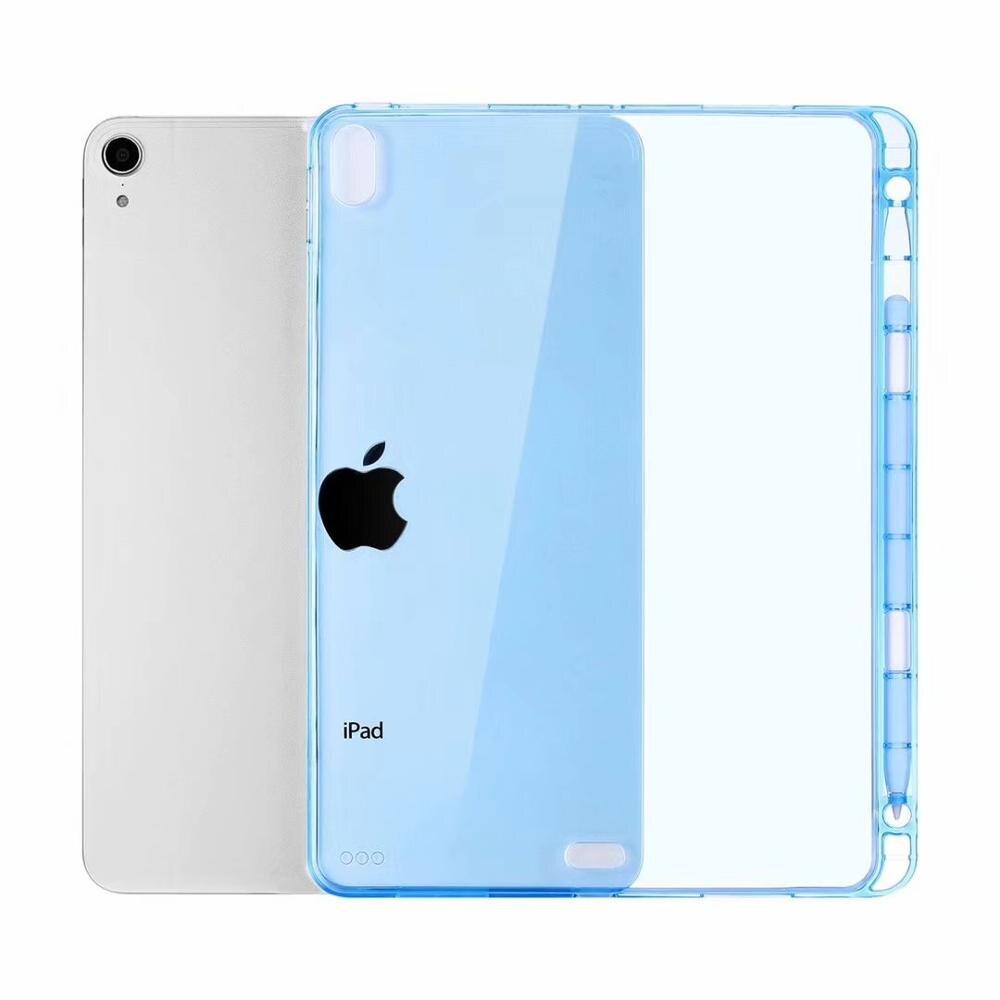 Funda ligera ultrafina con Portalápices para iPad Mini 1/2/3/4/5 ¡funda para tableta TPU suave transparente a prueba de golpes