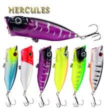 Hercules 6 pièces Popper pour pêche leurre ensemble marchandises 7cm 12g crochet russie 3D yeux Wobbler artificiel en plastique dur appât matériel de pêche