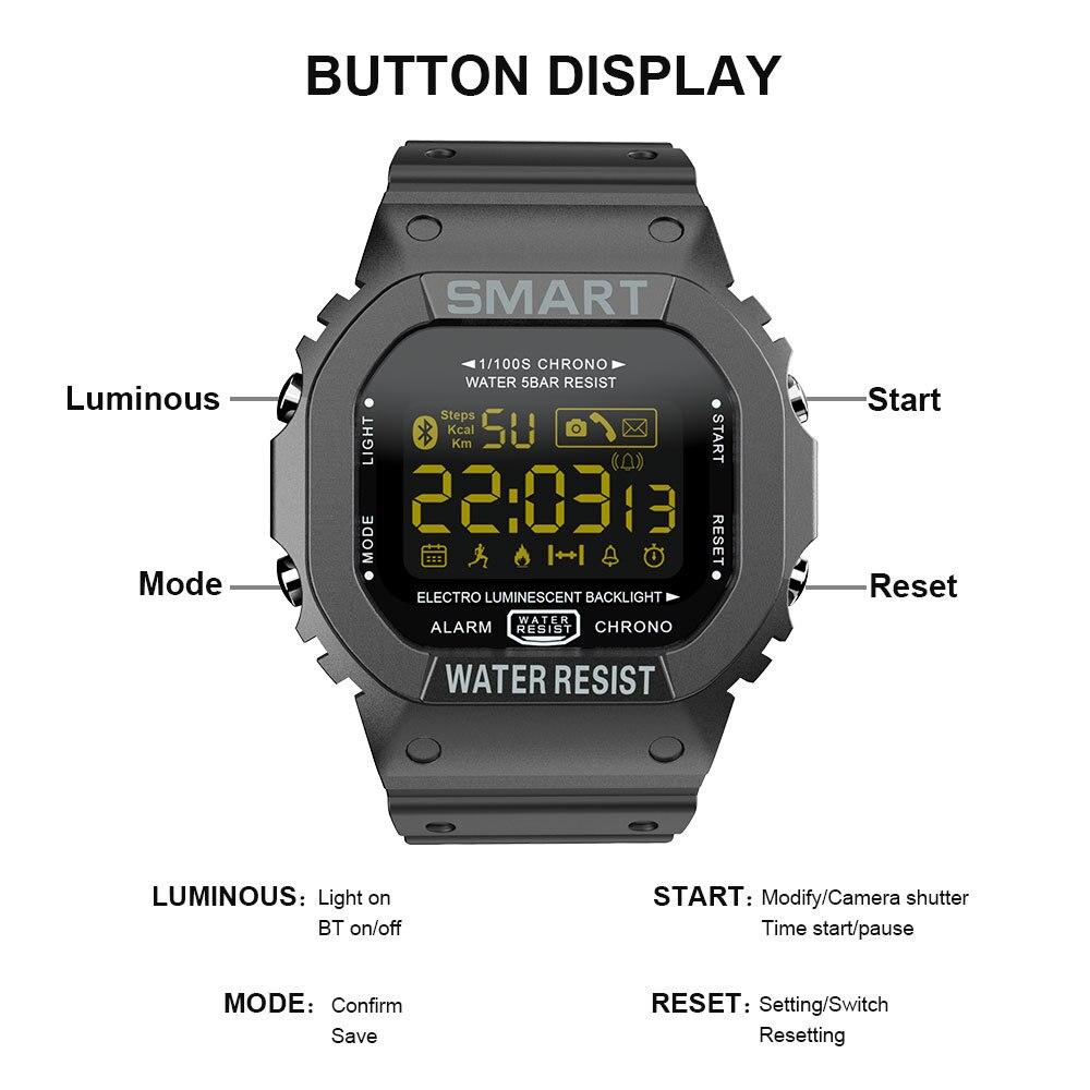 Купить с кэшбэком COXRY Rectangle Smart Watch Sport Watches Men Bracelet 2021 Running Smartwatch Women Digital Electronics Wristwatch Clock Alarm
