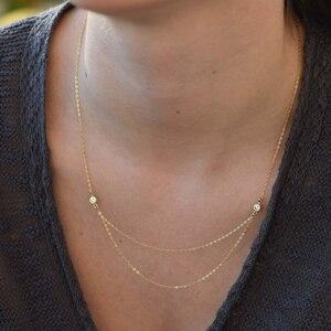 Многослойное ожерелье, ювелирное изделие ручной работы, Позолоченное колье, минимализм, кулоны, колье, женское ожерелье в стиле бохо