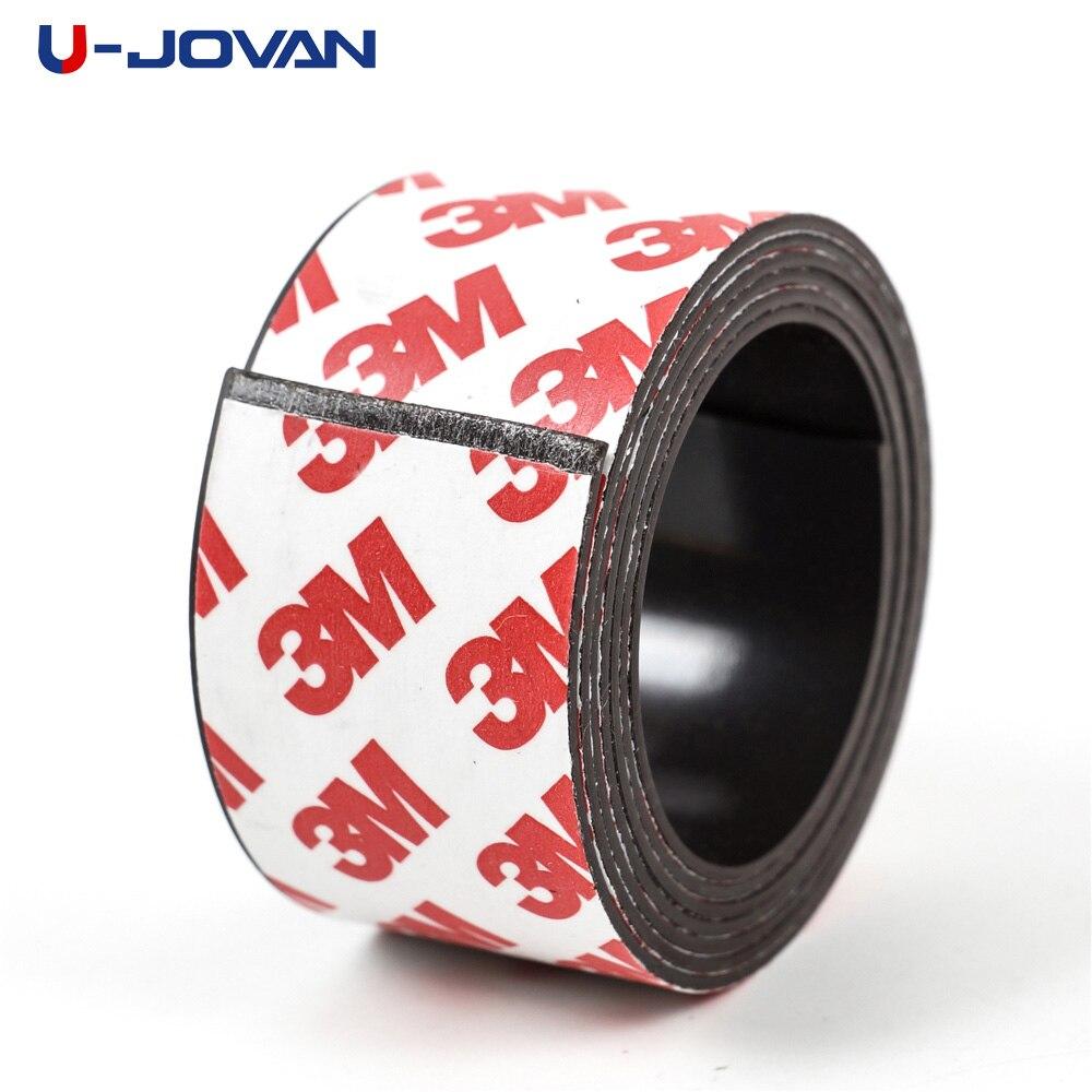 1 metr 30*1mm samoprzylepny elastyczny pasek magnetyczny gumowa taśma magnetyczna szerokość 30mm grubość 1mm