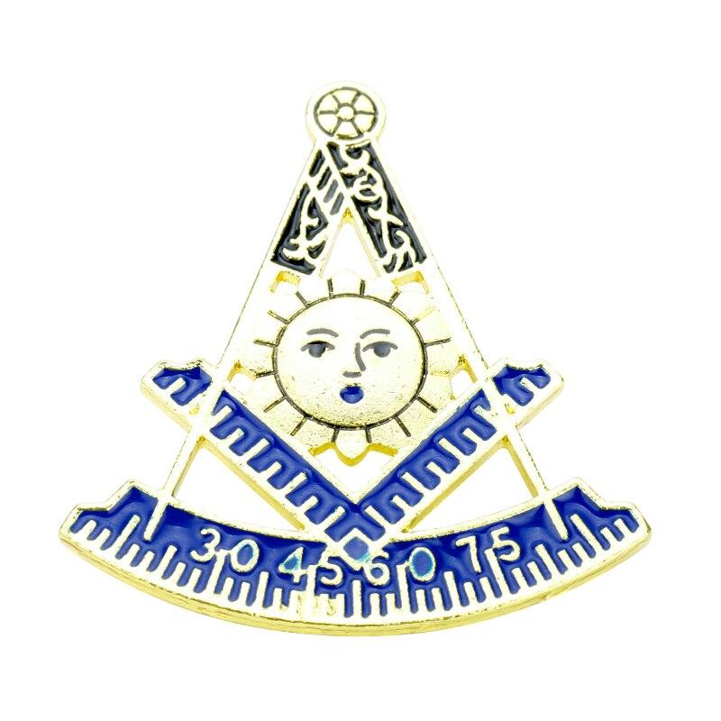 Caliente Groop Pins de solapa masónicos masones insignia broche de mampostería de la masonería maestro albañil de aleación de regalo artesanal de Metal para los hombres y las mujeres