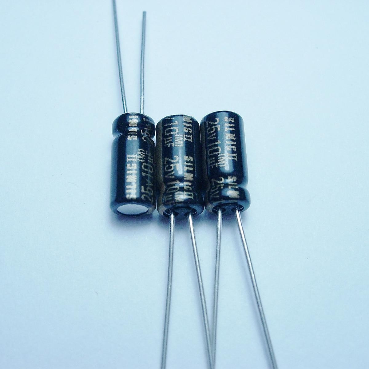 20pcs/50PCS ELNA SILMCII 25v10uf 5*11 copper for capacitance foot audio super capacitor electrolytic capacitors free shipping 5pcs 10pcs elna silmcii 16v2200uf 18 40 copper capacitor audio super capacitor electrolytic capacitors free shipping