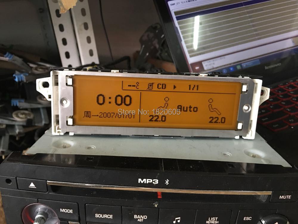 Экран Поддержка USB Dual-zone Air Bluetooth желтый дисплей монитор 12pin для Peugeot 307 407 408 для citroen C4 C5