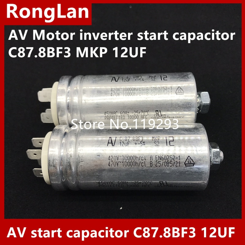 [BELLA] [New Original] Arcotronics AV Motor inverter start capacitor C87.8BF3 MKP 12UF  5% 500v