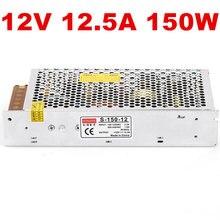 1 pièces 150W 12V 12.5A alimentation à découpage 12V LED bande lumière AC-DC alimentation 150w alimentation S-150-12 100-240VAC