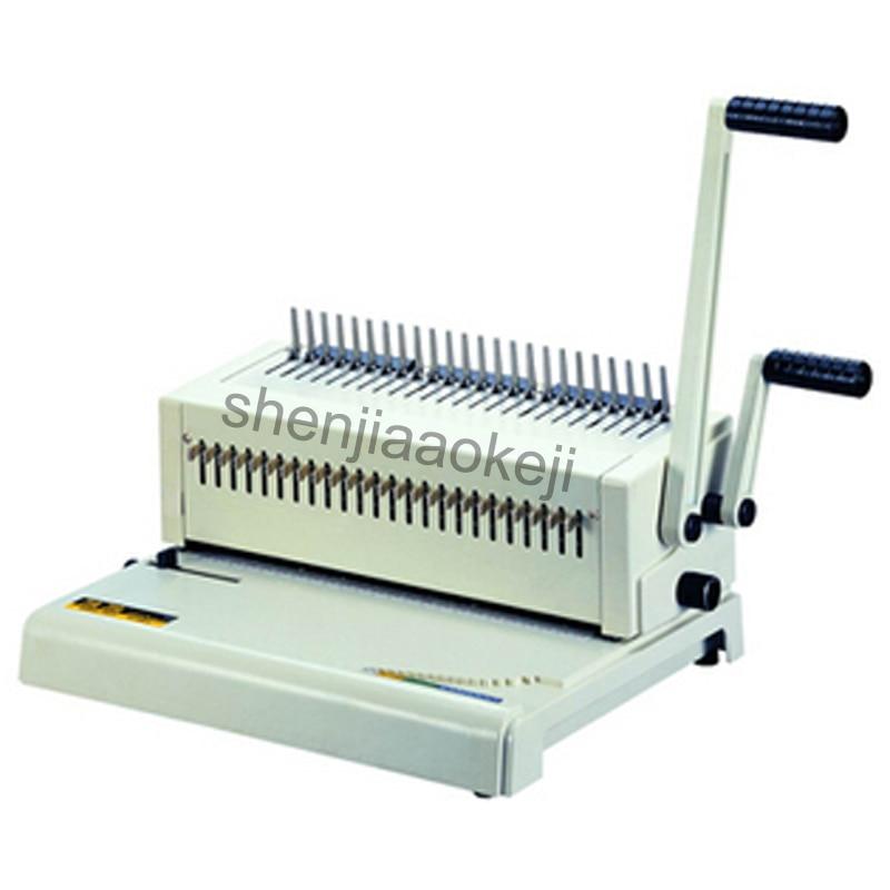 A4 ورقة ماكينة تسريح الشعر أستيكة قابلة للتعديل حلقة ماكينة تجليد الغراء لكمة آلة كتاب ماكينة تجليد 1 قطعة