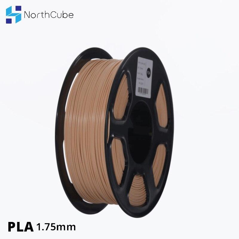 NorthCube-خيوط PLA للطابعة ثلاثية الأبعاد ، 1.75 مللي متر ، 1 كجم (2.2 رطل)/- 0.02 مللي متر ، لون البشرة