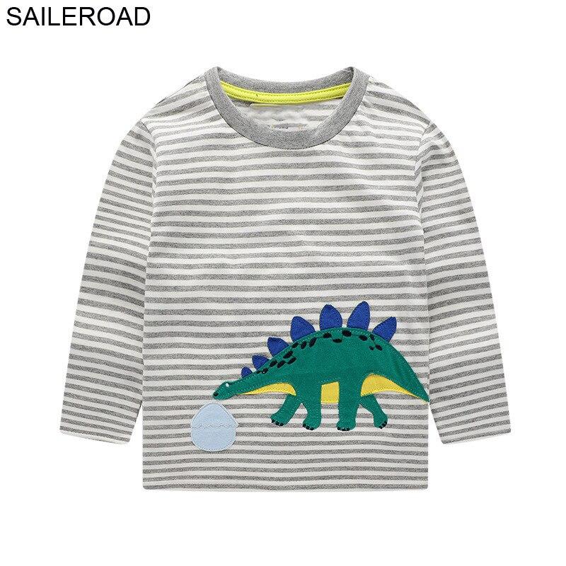 SAILEROAD, camisetas de manga larga de dinosaurio para niños, camiseta de otoño...