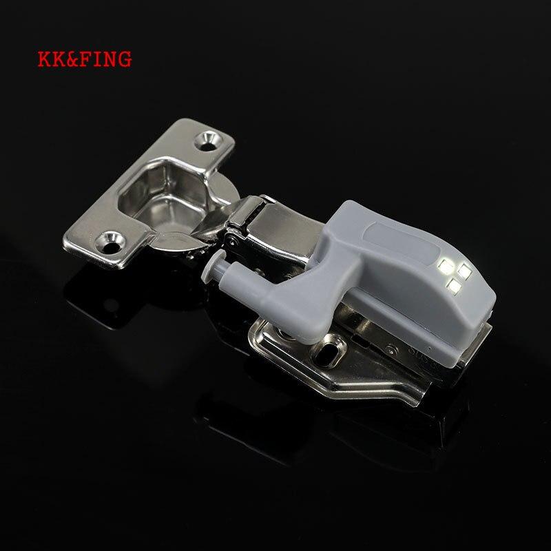 KK & FING 5PCS Universal Scharnier Licht LED Schrank Innere Scharniere Lampe Home Küche Schlafzimmer Schrank Nacht Licht