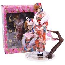 VOCALOID Hatsune Miku Meiko Kimono Ver. 1/8 échelle PVC Figure à collectionner modèle jouet 19cm