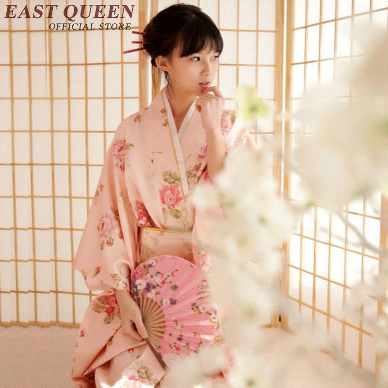 Kimono japonés vestido tradicional kimonos mujer 2018 obi haori geisha traje kimonos japoneses tradicionales cosplay KK813