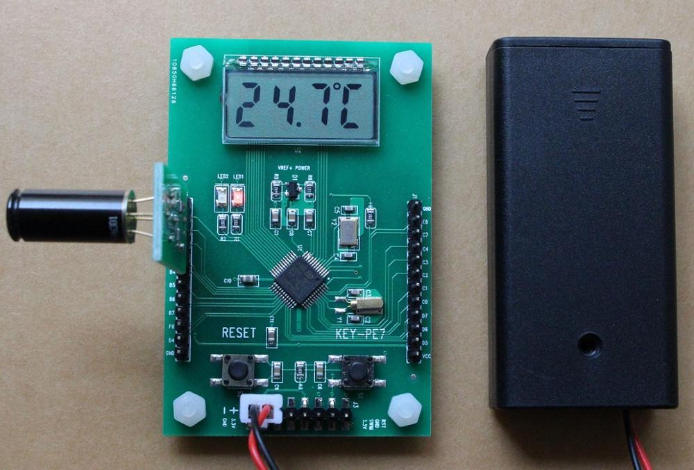 Para placa de desenvolvimento STM8L152, MLX90614 placa de medição de temperatura, MLX90614ESF-DCI infravermelho da sonda de temperatura