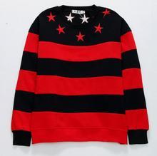 New luxury High Embroidered Star Stripes Unisex Hoodie Hoody hooded Sweatershirt velvet Cotton Drake Thicken Fleece S-2XL #C44