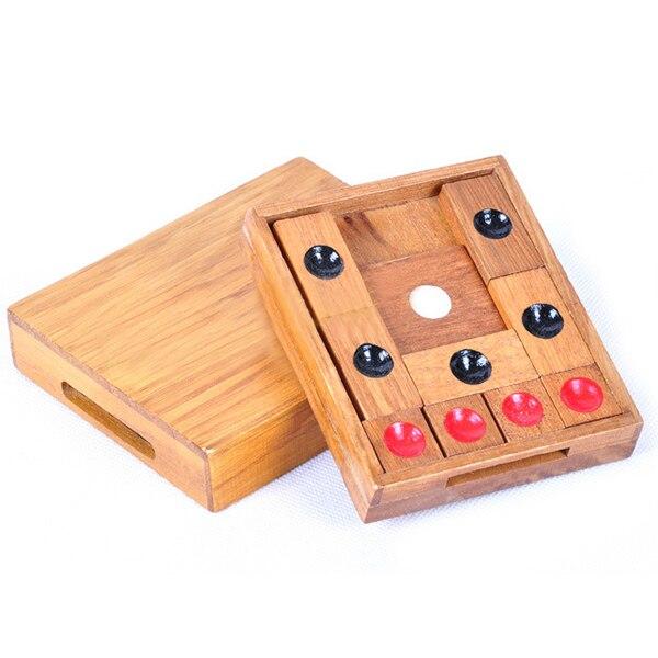 Обучающая игрушка для детей и взрослых, классический деревянный пазл-головоломка