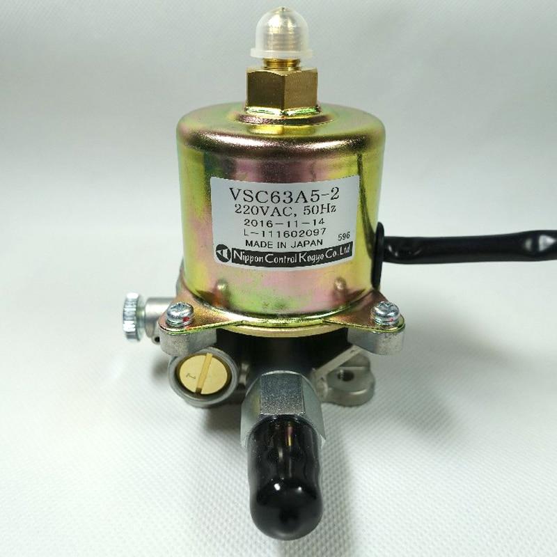 Piezas de quemador Nippon, VSC63A5-2 de bomba electromagnética para quemador de metanol, Quemador de aceite Diese