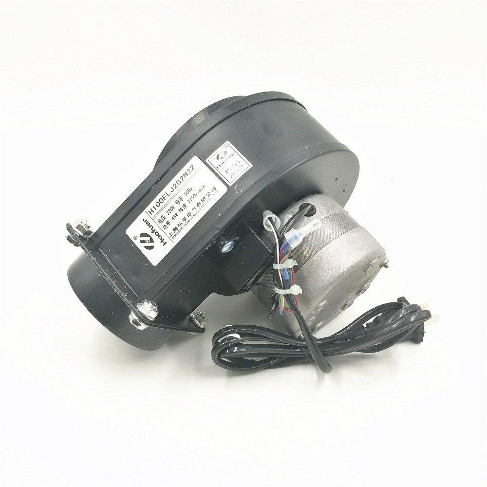 Pequeño ventilador centrífugo de frecuencia de potencia redonda 100FLJ2 ventilador centrífugo de tubería 220V 45W secador de pelo silencioso 2750 r/min diámetro de tubería 75mm
