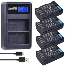 4 Pièces 1860mAh DMW-BLF19E DMW-BLF19 Caméra Batterie DMW BLF19 BLF19 BLF19E + LCD Double Chargeur USB pour Panasonic Lumix GH3 GH4 GH5 G9