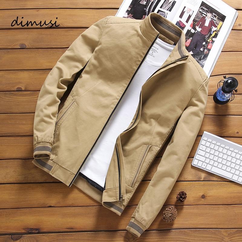 Демисезонная мужская куртка-бомбер DIMUSI, повседневная мужская верхняя одежда, Женская куртка с воротником, мужские бейсбольные приталенные ...