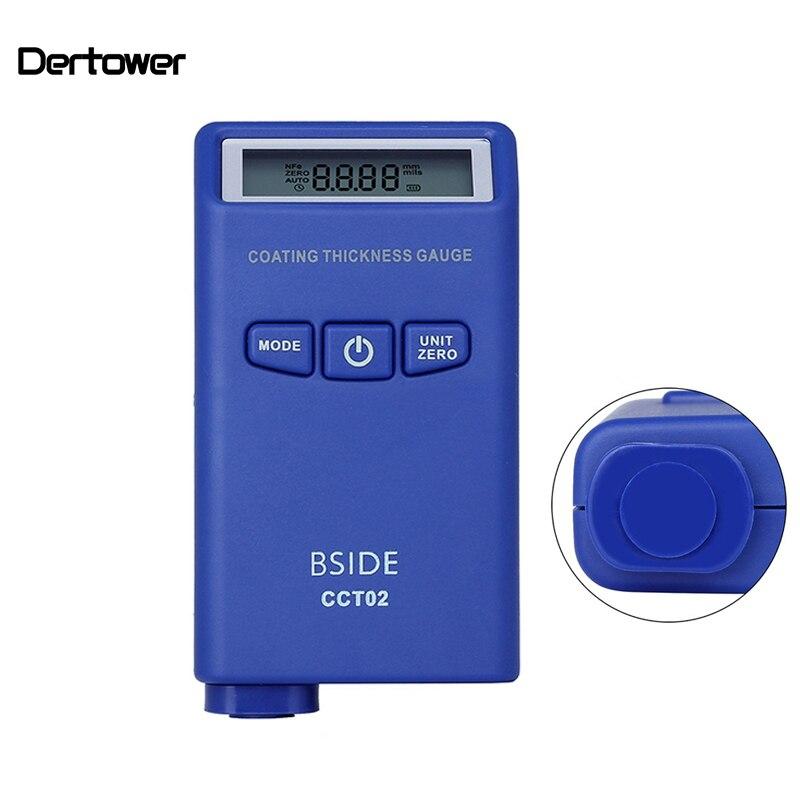 Pinte Medidor da Espessura de Revestimento Medidor de Espessura Digital Mini Carro Película de Revestimento Auto Pintura Tester corrente Parasita (F + N) ferramenta de medição