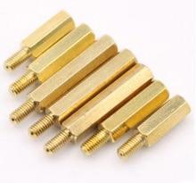 50Pcs M5 Brass Standoff Spacer External Thread 7mm Female to Male Brass Screws Threaded Spacer Hex