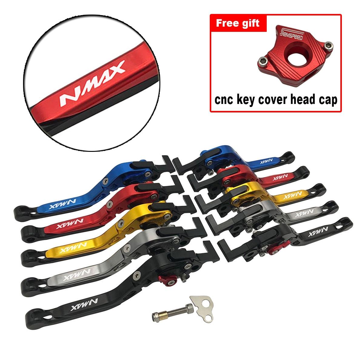 Juego de cubierta de llave de palancas de estacionamiento para YAMAHA N-MAX 155 150 125 NMAX 155 N-MAX 150 155 Scooter plegable palancas de embrague de freno extensibles